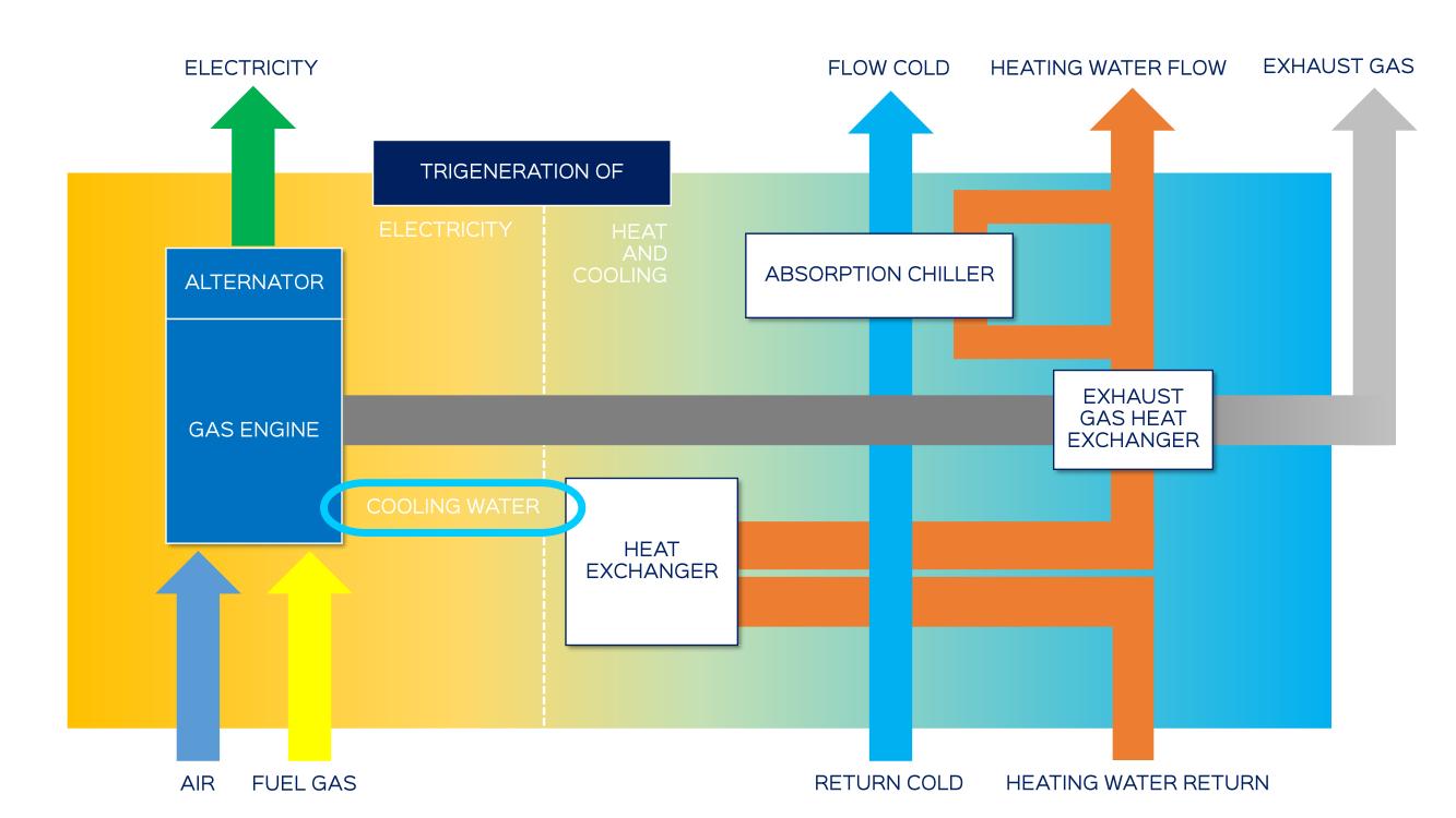 Trigeneration Schematic (CCHP)