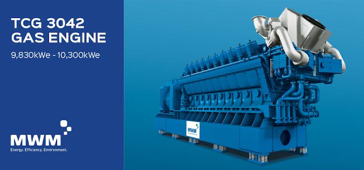 MWM TCG 3042 10.3MWe gas engine